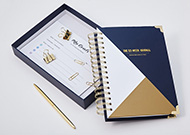 Happiness Planner (Navy Blue/Gold)