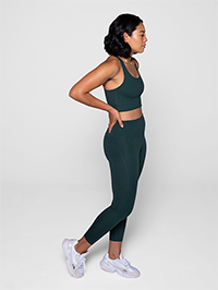 Girlfriend Collective Compressive High-Rise Legging 7/8 (Moss)