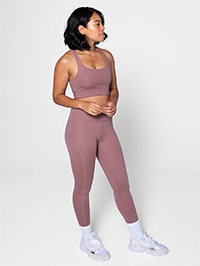 Girlfriend Collective Compressive High-Rise Legging 7/8 (Rose Quartz)
