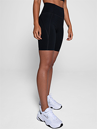 Girlfriend Collective High-Rise Bike Short (Black)
