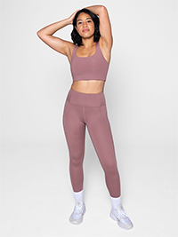 Girlfriend Collective Compressive High-Rise Legging Long (Rose Quartz)