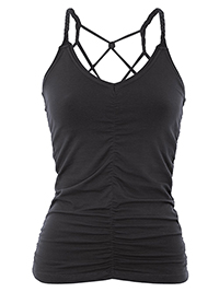 Mandala Cable Yoga Top (Black)