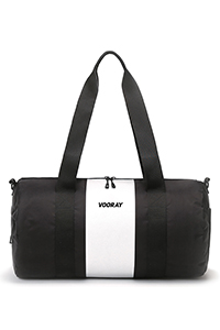 Iconic Barrel Duffel (Silver Stripe)