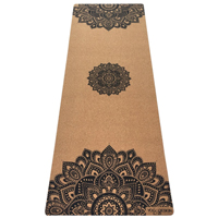 Cork Mat (Mandala Black)