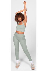 Girlfriend Collective Compressive High-Rise Legging Long (Agave)