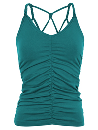 Mandala Cable Yoga Top (Tropical Green)