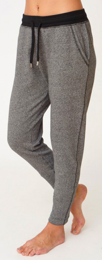 Asquith Straight Leg Track Pants (Pale Grey Fleece)