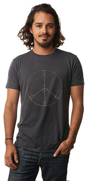 Gold Peace Arrows Be Love T-Shirt (Thunder)
