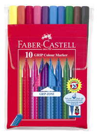 Faber-Castell - Grip Color Tusser, 10 stk