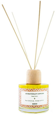 Reed Diffuser - Happiness - Rose Geranium, Orange & Mint