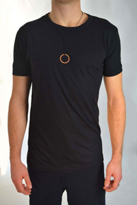 Ohmme Bamboo Yoga T-shirt (Black)