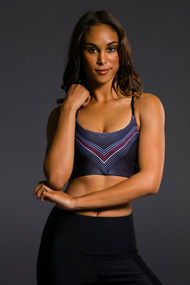 Onzie Graphic Vinyasa Bra - Black Moon