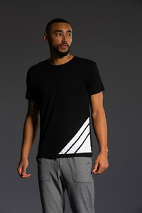 Onzie Graphic Tee (Stripe Black)