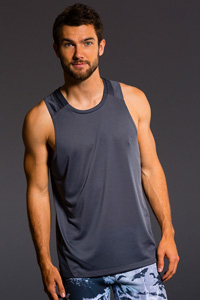 Onzie Muscle Tank (Gray Mesh)