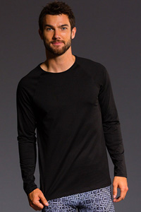 Onzie Raglan Long Sleeve Tee (Black)