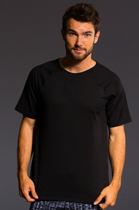 Onzie Raglan Short Sleeve Tee (Black)