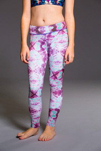 ONZIE Youth Long Legging (Purple Tie Dye)