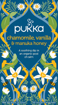 Chamomile, Vanilla & Manuka honey tea - �ko - Pukka te