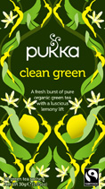 Green tea Clean Green - �ko - Pukka te