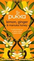 Lemon, Ginger and Manuka Honey - øko - Pukka te