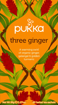 Three Ginger - øko - Pukka te