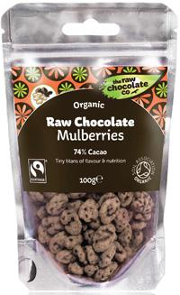 Mulberry Raw Chocolate 125g