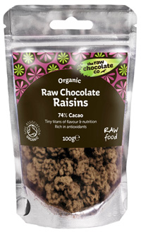 Raisins Raw Chocolate 125g