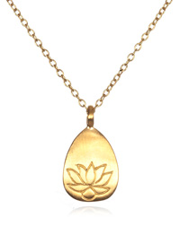 Gold Lotus Necklace - Arise