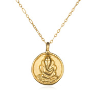 Gold Ganesha Necklace - Full Speed Ahead