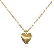 Gold Beating Heart Necklace