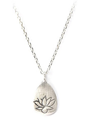 Silver Lotus Necklace - Arise