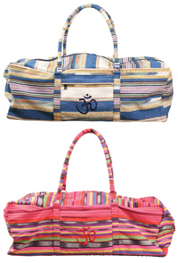 Deluxe Yoga Kit Bag - Powerloom Stripe