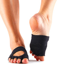 Toesox Halftoe Relevé Grip (Nightlife)