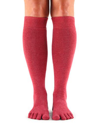 Fulltoe Casual Knee High (Pomegranate)