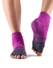 Halftoe Ankle Grip (Mulberry Stripe)