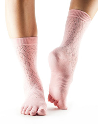Toesox Casual Crew (Fishnet Kiss)