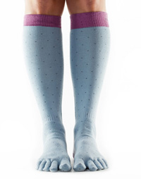 ToeSox Casual Knee-high (Polka)