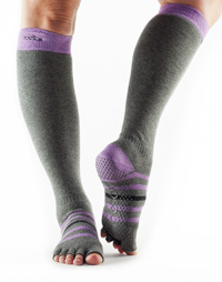 Toesox Halftoe Scrunch Knee High Grip (Aire)