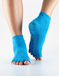 Toesox Halftoe Ankle Grip (Skydiver)