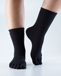 Toesox Casual Crew (Black)