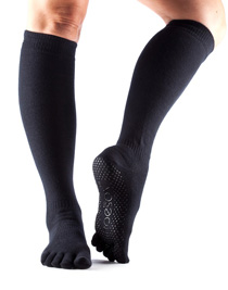 Toesox Fulltoe SCRUNCH KNEE Grip (Black)