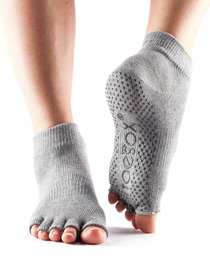 Toesox Halftoe Ankle Grip (Heather grey)