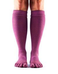 Toesox Casual Knee High (Fishnet luscious)