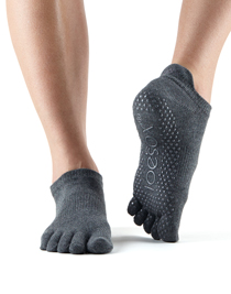 ToeSox Full Toe Low Rise Grip (Charcoal)