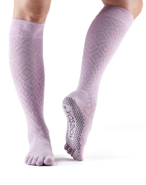 ToeSox Full Toe Scrunch Knee High Grip (Diamond Freesia)