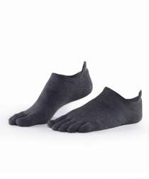 Toesox Sport UltraLite No Show (Charcoal)