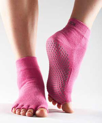 Toesox Halftoe Ankle Grip (Hot pink)