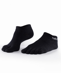 Toesox Sport LightWeight Ankle (Black)