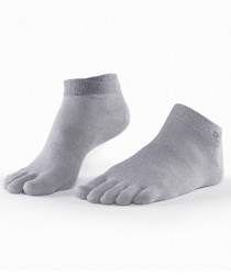 Toesox Sport LightWeight Ankle (Grey)